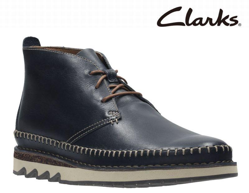 【送料無料】 【817E】【Clarks】【送料無料】【牛革】【Fallton Top】アッパー全て牛革☆   フォルトントップ カジュアルモカシンブーツビジネスシューズ紳士靴