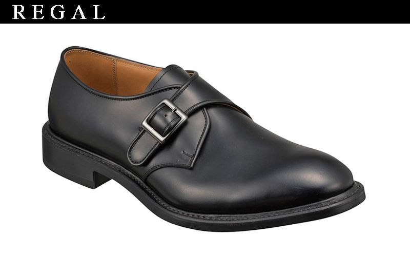 在庫一掃処分 【07NRBH】【REGAL】【送料無料】【日本製】アッパー全て本革☆グッドイヤーウエルト式製法ラウンドタイプのモンクストラップビジネスシューズ紳士靴