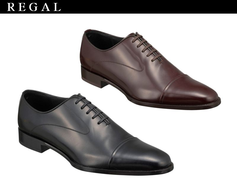 魅力の新作 【10NRBC】【REGAL】【送料無料】【日本製】アッパー全て本革☆セミマッケイ式製法キャップトウのストレートチップビジネスシューズ紳士靴