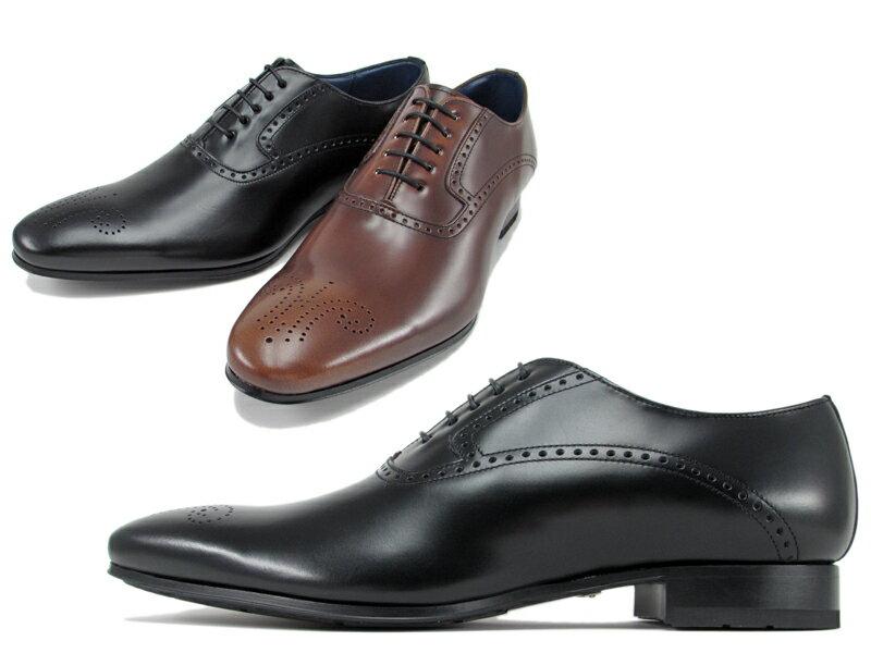 【24GRBB】【REGAL】【送料無料】【日本製】アッパー全て本革☆セミマッケイ式 すっきりとしたコバ周り!メダリオンプレーンビジネスシューズ紳士靴