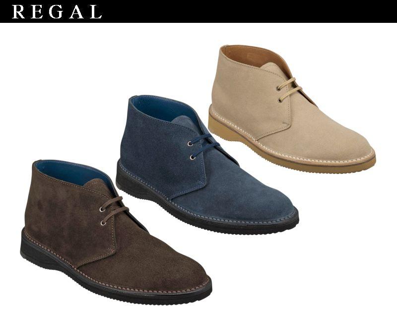 【51NRBB】【REGAL】【送料無料】【日本製】スポンジソール☆ステッチダウン式製法チャッカーブーツビジネスシューズ紳士靴