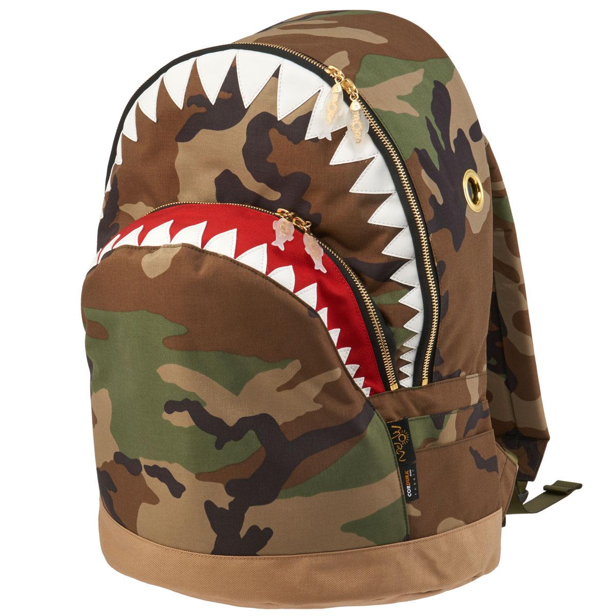 【全品送料無料】【先着順プレゼントあり】リュック MORN CREATIONS シャーク バックパック LL 限定生産 モーンクリエイションズ サメ LLサイズ カモフラージュ