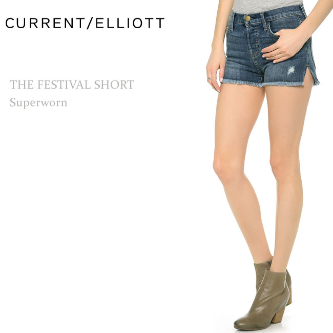 【SALE】Current Elliott(カレントエリオット)THE FESTIVAL SHORT Superworn【送料無料】ショートデニム/ショートパンツ/デニムショート