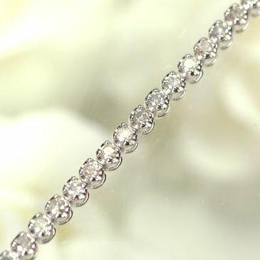K18WG・ダイヤモンド1.0ct テニスブレスレット