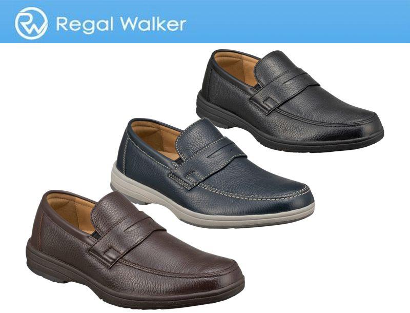 【274WBF】【Regal Walker】【送料無料】【日本製】アッパー全て鹿革☆ ディアスキン採用のローファー3Eカジュアルシューズ紳士靴