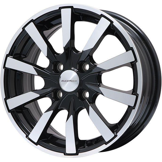 【送料無料 VW(ザ・ビートル)】 DUNLOP ダンロップ ウィンターMAXX 02(限定) 215/65R15 15インチ スタッドレスタイヤ ホイール4本セット 輸入車 EUROTECH ユーロテック ガヤ10(ブラックポリッシュ) 6J 6.00-15