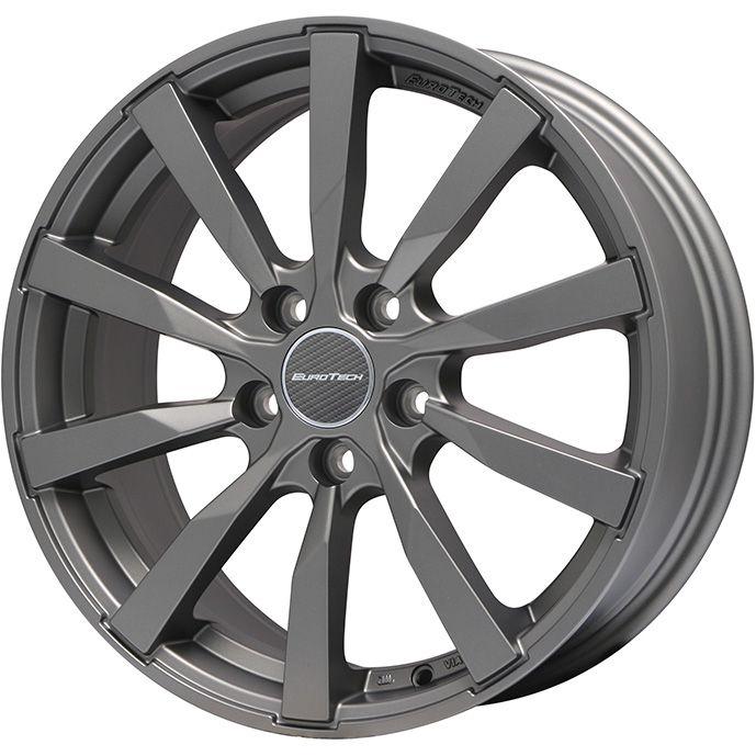 【送料無料 VW(ポロ)】 DUNLOP ダンロップ ウィンターMAXX 02(限定) 195/50R16 16インチ スタッドレスタイヤ ホイール4本セット 輸入車 EUROTECH ユーロテック ガヤ10(マットチタニウム) 6.5J 6.50-16