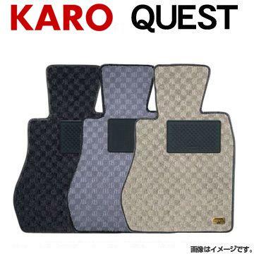 送料無料(一部離島除く) KARO カロ フロアマット クエスト トヨタ ハリアー(2003~2009 30系 MHU38W) フジコーポレーション フジコーポレーション
