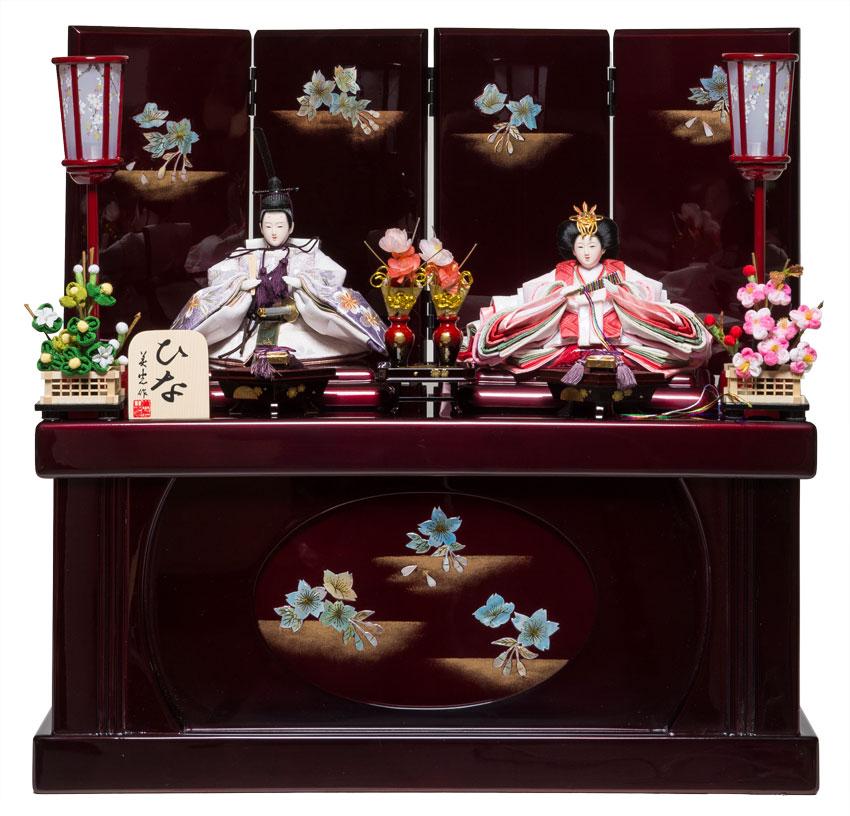 【雛人形収納飾】京芥子親王螺鈿収納飾:平安之宴(B):美光作【雛人形】【親王飾】