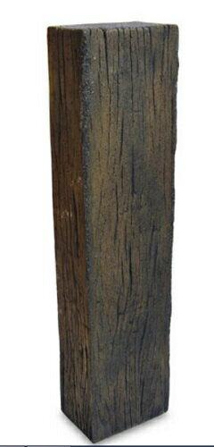 コンクリート枕木 スリーパーエッジャー F 立型65cm ×2個(N95880) [枕木/コンクリート/敷石/飛び石/アプローチ/花壇/ガーデン/庭/擬木/人工/エクステリア]