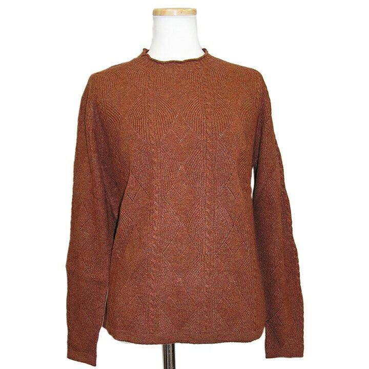【OUTLET】カシミヤ セーター 100D030 カシミヤ100%柄編みセーター カシミア カシミヤセーター