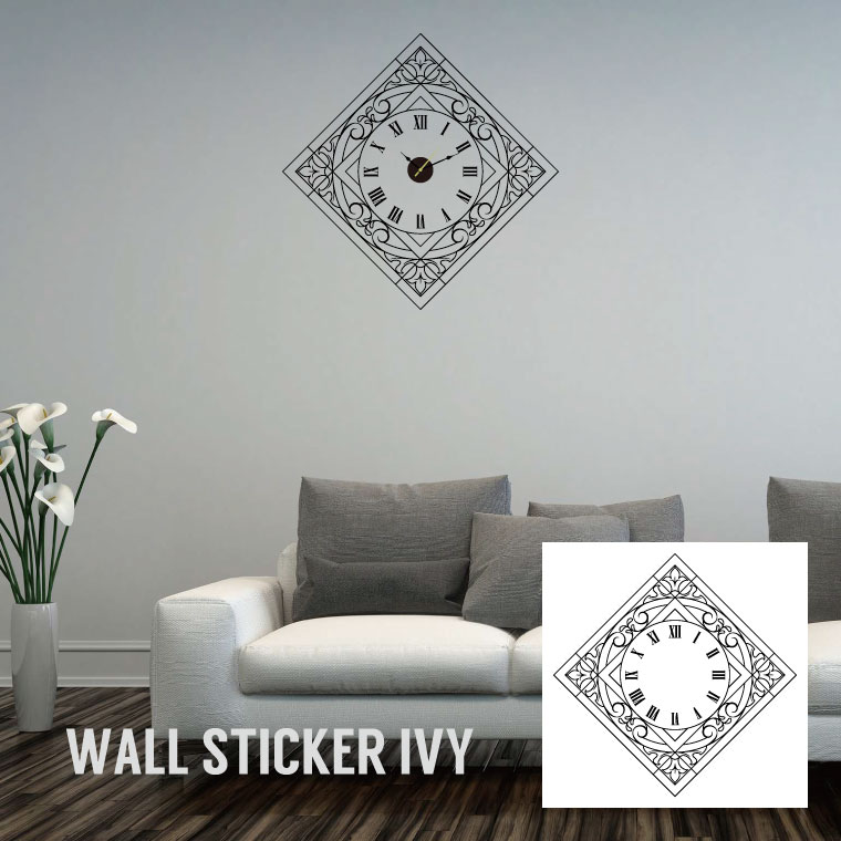 Wall clock[Wall sticker/ウォールステッカー/Wall decal/Wall clock/壁掛け時計/時計]