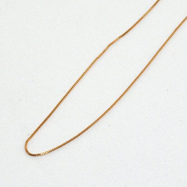 ベネチアン ネックレス チェーン K18PG 40cm 彼女 誕生日 ジュエリー アクセサリー