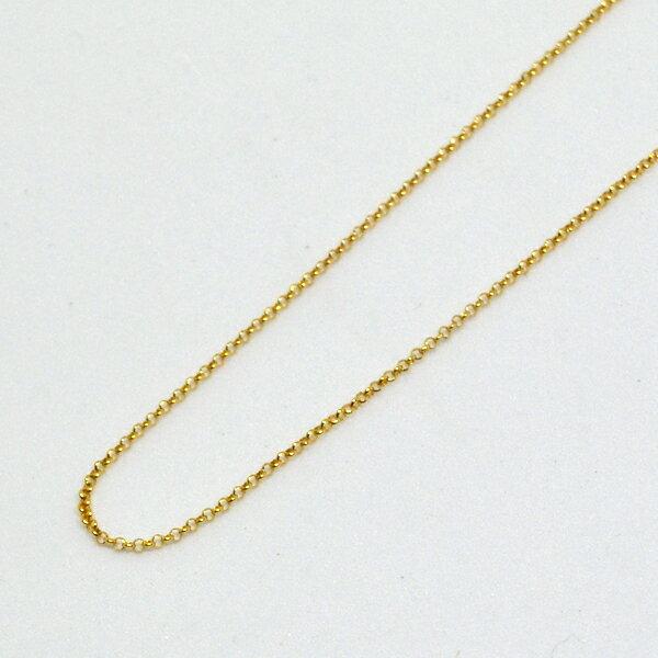 丸アズキ ネックレス チェーン K18 40cm 彼女 誕生日 ジュエリー アクセサリー