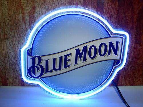 【海外直輸入商品・納期1週間~3週間程度】【全国送料580円・2万以上送料無料】BLUE MOON ネオン看板 ネオンサイン 広告 店舗用 NEON SIGN アメリカン雑貨 看板 ネオン管