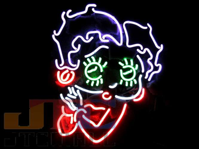 【海外直輸入商品・納期1週間~3週間程度】【全国送料・消費税込 ベティーちゃん Betty Boop ネオン看板 ネオンサイン 広告 店舗用 NEON SIGN アメリカン雑貨 看板 ネオン管