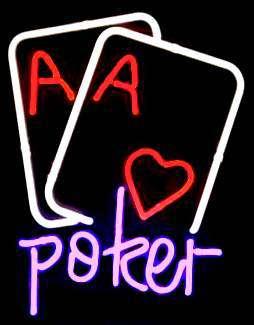 【海外直輸入商品・納期1週間~3週間程度】【全国送料580円・2万以上送料無料】Poker ポーカー ゲーム ネオン看板 ネオンサイン 広告 店舗用 NEON SIGN アメリカン雑貨 看板 ネオン管