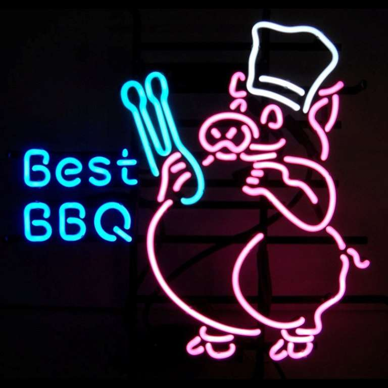 【海外直輸入商品・納期1週間~3週間程度】【全国送料580円・2万以上送料無料】T80 BEST BBQ バーベキュー 広告 店舗用 NEON SIGN アメリカン雑貨 看板 ネオン管