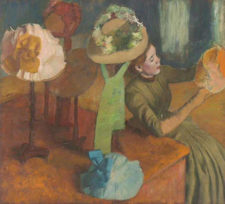 油絵 エドガー・ドガ 婦人用帽子屋  F12サイズ F12号  606x500mm 油彩画 絵画 複製画 選べる額縁 選べるサイズ