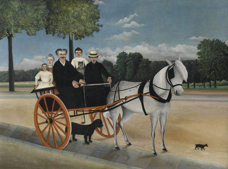 油絵 アンリ・ルソー ジュニエ爺さんの馬車  P12サイズ P12号  606x455mm 油彩画 絵画 複製画 選べる額縁 選べるサイズ