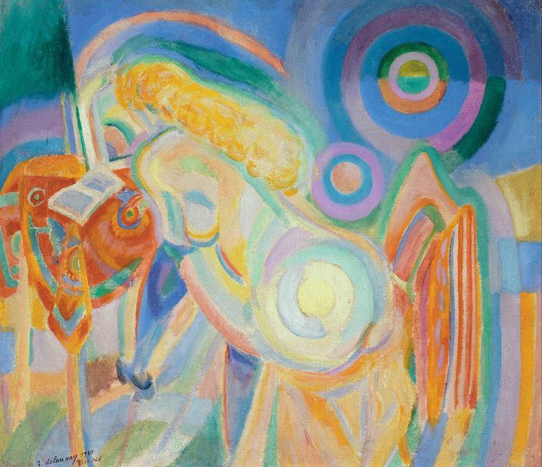 絵画 インテリア 額入り 壁掛け 油絵  ロベール・ドローネー 本を読む裸体の女性  F15サイズ F15号  652x530mm 油彩画 複製画 選べる額縁 選べるサイズ