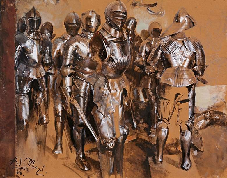 油絵 アドルフ・メンツェル 武具室の空想  F12サイズ F12号  606x500mm 油彩画 絵画 複製画 選べる額縁 選べるサイズ