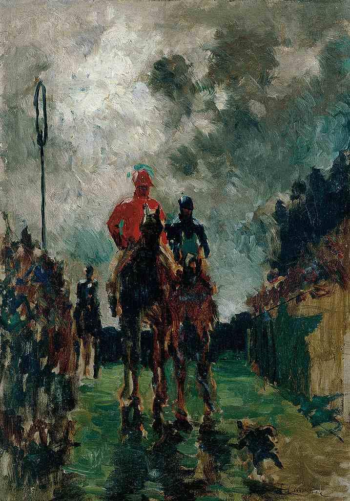 油絵 アンリ・ド・トゥールーズ=ロートレック 競馬騎手  P12サイズ P12号  606x455mm 油彩画 絵画 複製画 選べる額縁 選べるサイズ