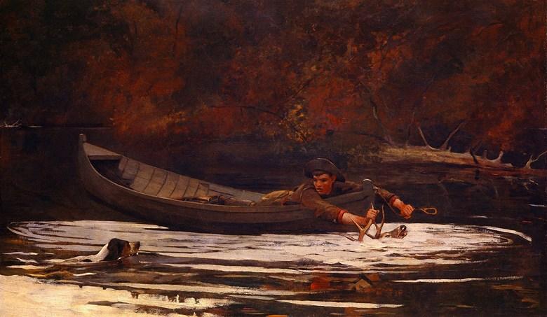 油絵 ウィンスロー・ホーマー 猟犬と狩人  F12サイズ F12号  606x500mm 油彩画 絵画 複製画 選べる額縁 選べるサイズ