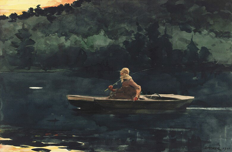 油絵 ウィンスロー・ホーマー 日の出  M12サイズ M12号  606x410mm 油彩画 絵画 複製画 選べる額縁 選べるサイズ