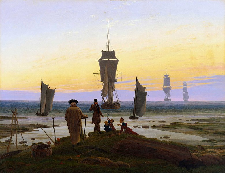 油絵 カスパー・ダーヴィト・フリードリヒ 人生の諸段階  F12サイズ F12号  606x500mm 油彩画 絵画 複製画 選べる額縁 選べるサイズ