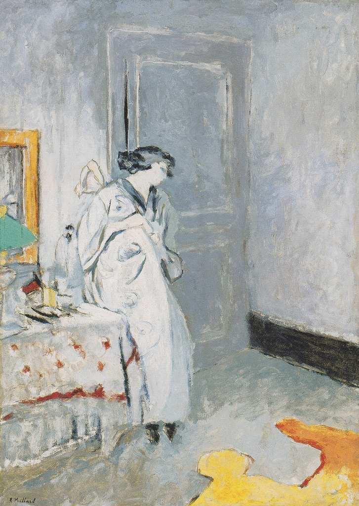油絵 エドゥアール・ヴュイヤール 青い部屋  P12サイズ P12号  606x455mm 油彩画 絵画 複製画 選べる額縁 選べるサイズ