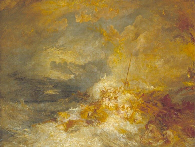 油絵 油彩画 絵画 複製画 ジョゼフ・マロード・ウィリアム・ターナー 海上災害  P10サイズ P10号  530x410mm すぐに飾れる豪華額縁付きキャンバス