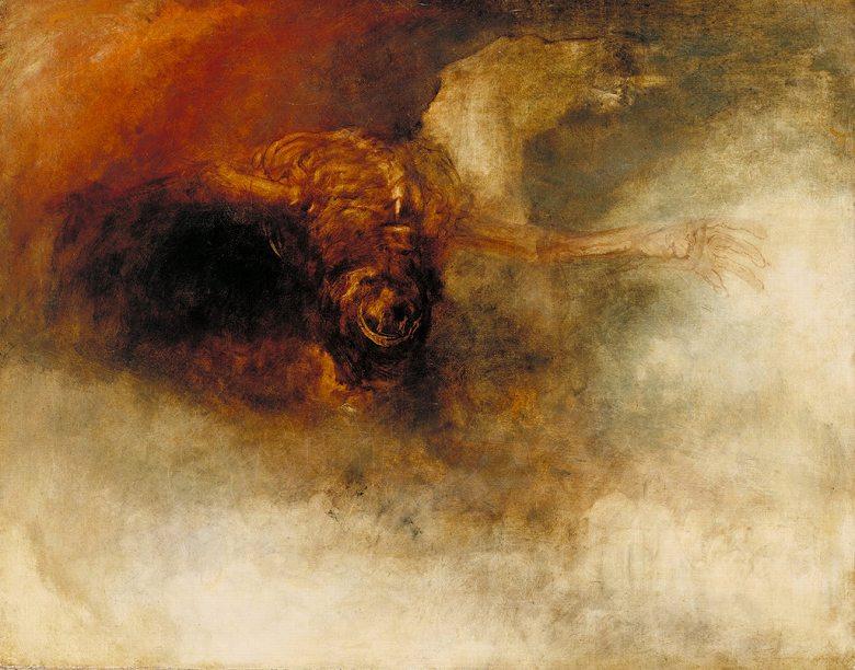 油絵 ジョゼフ・マロード・ウィリアム・ターナー 青ざめた馬に乗る死神  F12サイズ F12号  606x500mm 油彩画 絵画 複製画 選べる額縁 選べるサイズ