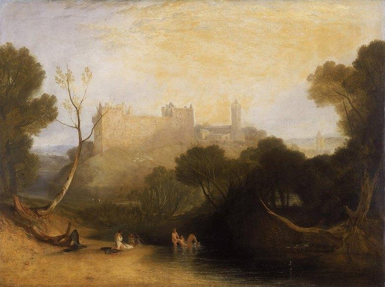 油絵 油彩画 絵画 複製画 ジョゼフ・マロード・ウィリアム・ターナー リンリスゴー宮殿  P10サイズ P10号  530x410mm すぐに飾れる豪華額縁付きキャンバス