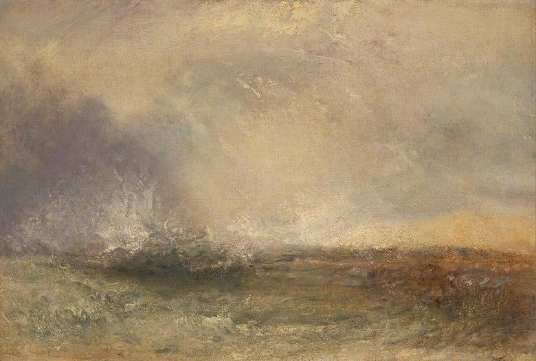 油絵 油彩画 絵画 複製画 ジョゼフ・マロード・ウィリアム・ターナー 嵐の海  P10サイズ P10号  530x410mm すぐに飾れる豪華額縁付きキャンバス