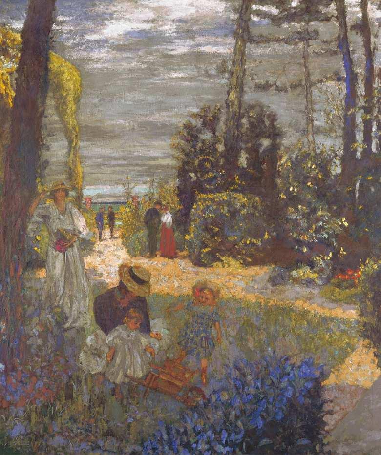 油絵 エドゥアール・ヴュイヤール 庭  F12サイズ F12号  606x500mm 油彩画 絵画 複製画 選べる額縁 選べるサイズ