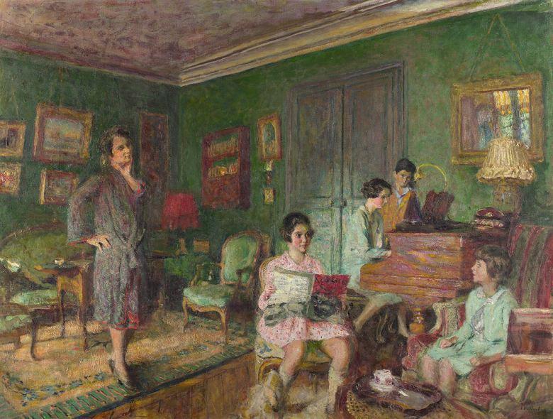 油絵 エドゥアール・ヴュイヤール アンドレ・ヴォルムゼル夫人と子供  P12サイズ P12号  606x455mm 油彩画 絵画 複製画 選べる額縁 選べるサイズ