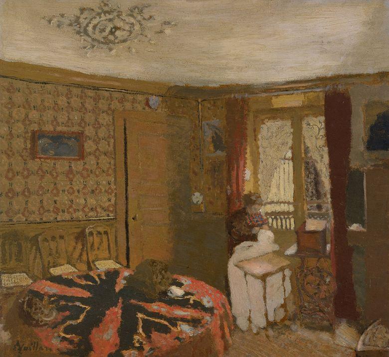 油絵 エドゥアール・ヴュイヤール 窓の傍で縫い物をするヴュイヤール夫人  F12サイズ F12号  606x500mm 油彩画 絵画 複製画 選べる額縁 選べるサイズ