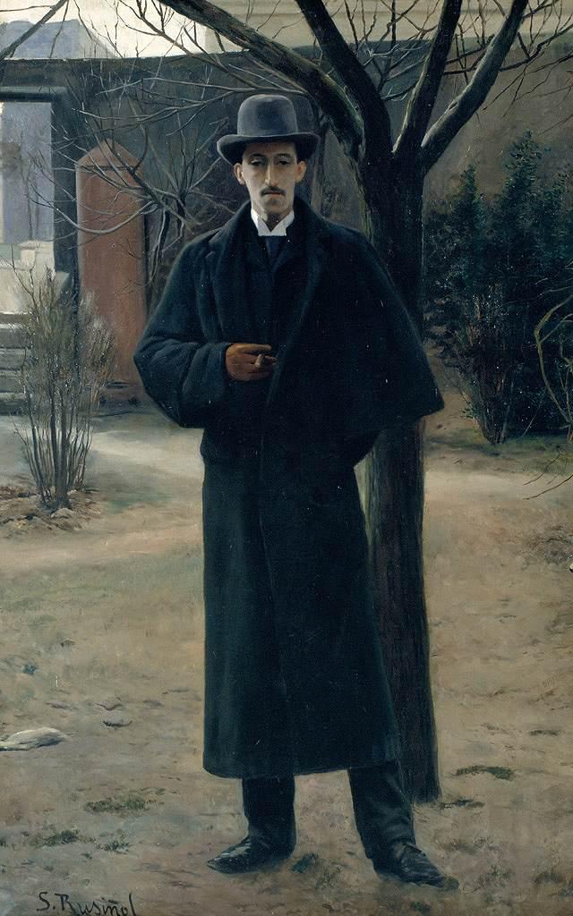 油絵 サンティアゴ・ルシニョール ミゲル・ウトリリョの肖像  M12サイズ M12号  606x410mm 油彩画 絵画 複製画 選べる額縁 選べるサイズ