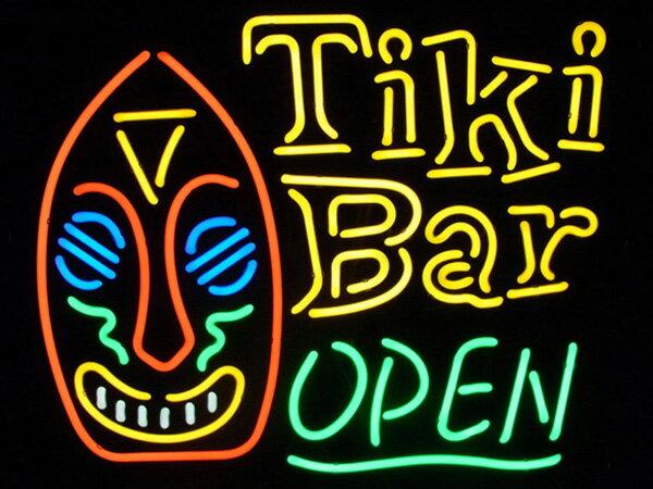 ネオンサイン(TiKi Bar OPEN/ティキ バー オープン)ハワイ ネオン看板/ネオン管・照明/ガレージ/ビンテージ/アメリカン雑貨 アメリカ雑貨 ネオン