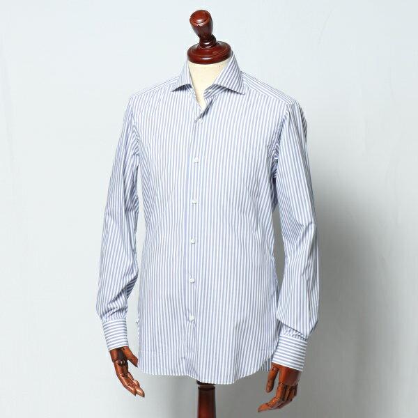 バルバ / BARBA / ホリゾンタルカラー / BRUNO / ブルーノ / ドレスシャツ / ロンドンストライプ / ブルー / 262465304u-blue