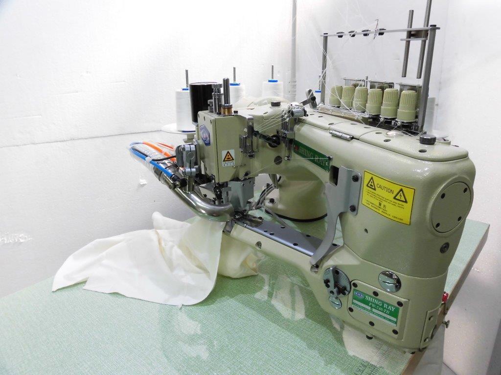 【新品】フラットシーマー SSM-FW-740-TB型 100V仕様 前密封、陶磁糸案内、針棒給油及び油が戻る設計、ダイレクトモーター