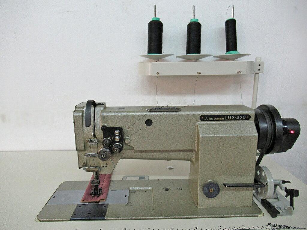 【中古】三菱ミシン MITSUBISHI ミツビシ 三菱 2本針本縫い総合送り大釜ミシン モデルNO-LU-420 BOB型