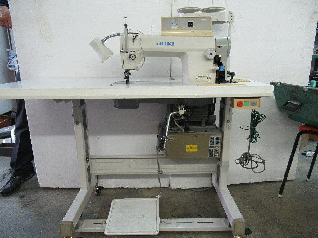 【中古】 JUKI 1本針上下差動送り自動糸切機能付きミシン モデルNO- DLU-5490N-6/sc120