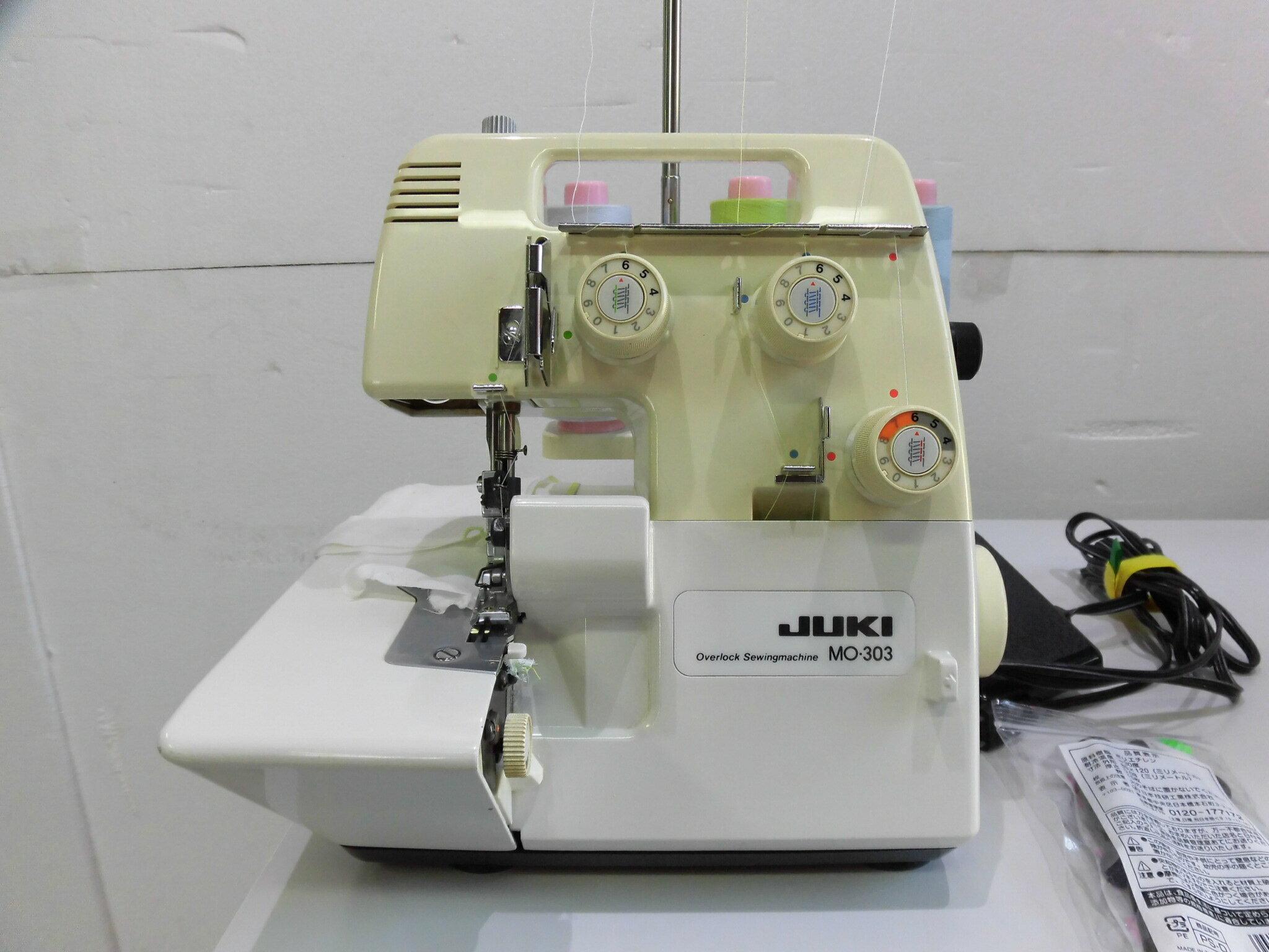 【中古】ジューキ ミシン JUKI MO-303 家庭用オーバーロックミシン 弊社にて整備済み