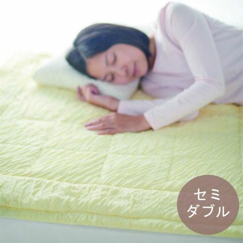 敷きパッド とろけるふとん enifea セミダブル【おすすめ 柔らかい 敏感肌 肌にやさしい 赤ちゃん 洗える 軽い 軽量 暖かい オールシーズン 送料無料】