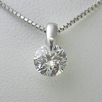 プラチナ一粒ダイヤモンドネックレス 0.45ct Fカラー SI1 トリプルエクセレントカット GIA鑑定書付き