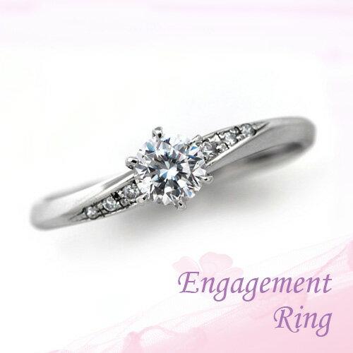 婚約指輪 プラチナ ダイヤモンドエンゲージリング 0.40ctUP Dカラー VS1 トリプルエクセレントカット GIA鑑定
