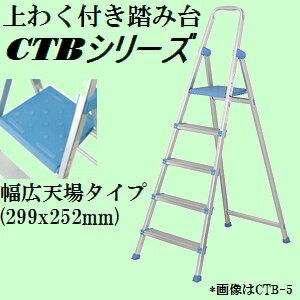【収納時幅約11cmの薄型、サイズも豊富】ピカ CTB-3C 上わく付き軽量アルミ踏み台 コメット 踏台高さ66cm