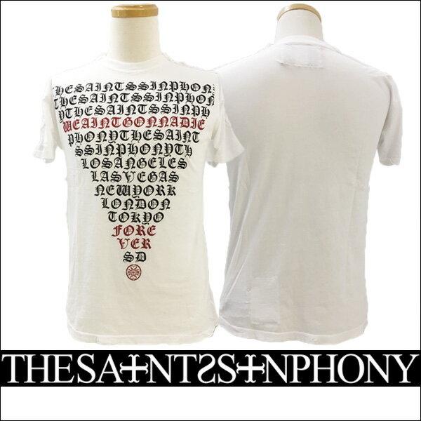 新作【THE SAINTS SINPHONY/セインツシンフォニー】PYRAMID EYE・Tシャツ(半袖・CREWネック・ホワイト・WHT)メンズ【送料無料】シンプルなフロントのみプリントのTシャツ!ブラックとレッドのメッセージプリントがカッコイイ!【インポート】【セレカジ】【正規品】